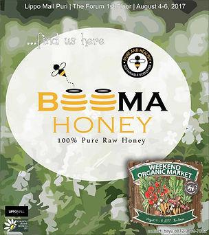 Beema honey at weekend organic market