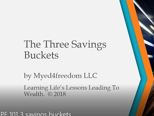 3 Savings Buckets