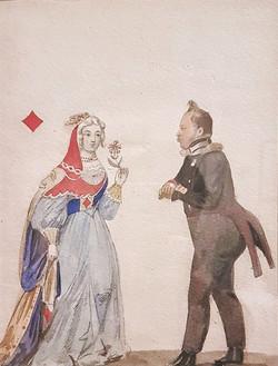 Офицер и дама бубен