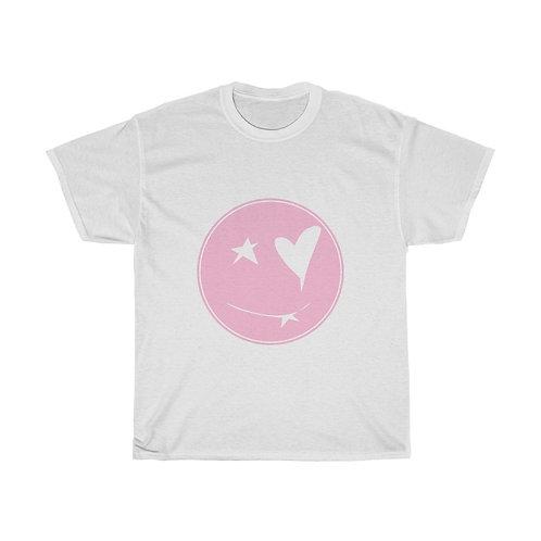 Qeuyl smiley pink Unisex Tee