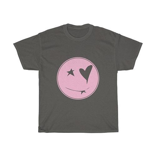 Qeuyl smiley charcoal pink Unisex Tee