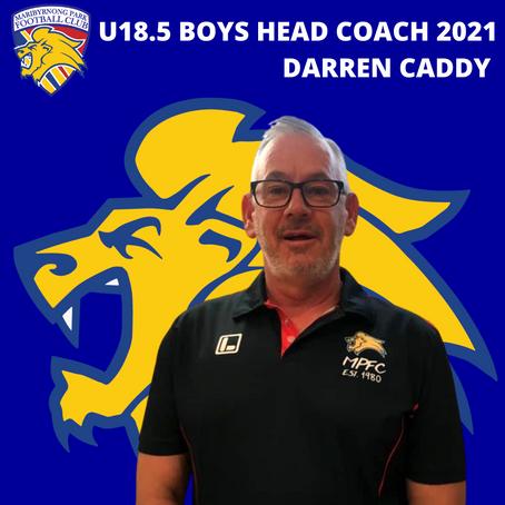 U18.5 Head Coach Announcement