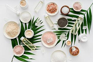 image of homemade cosmetics ingredients.