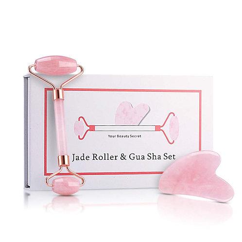 Gua Sha & Jade Roller Set