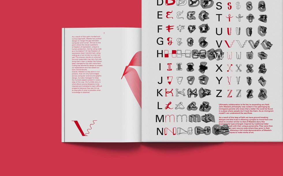 Font Design and Code Manipulation Zine