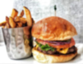 Maywood #burger and #fries are #handmade