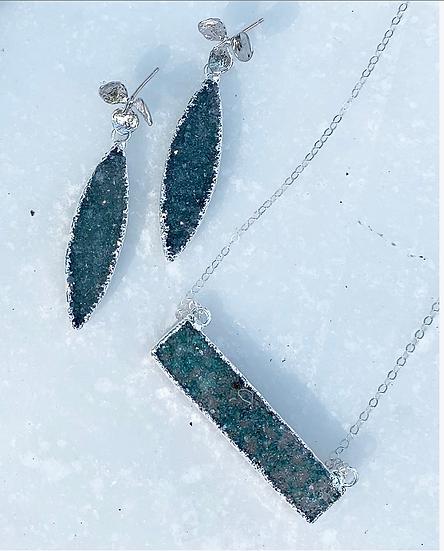 Green Druzy Jewelry