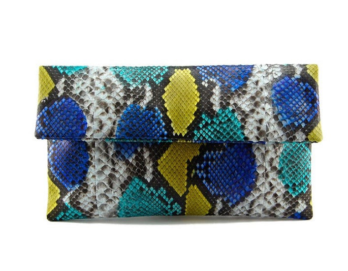 Blue and Turquoise Clutch