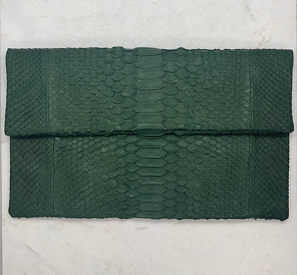 Forest Green Clutch