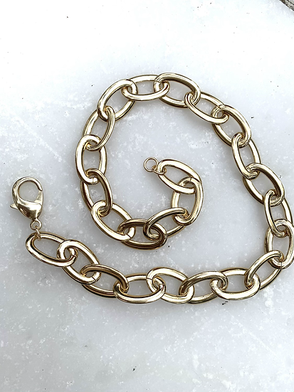 Chunky Large Gold Necklace