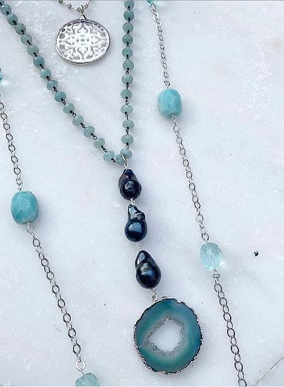Amazonite and Aquamarine Necklace