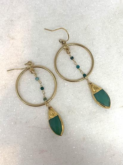 Circle Jade Earrings