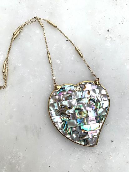 Mosaic Abalone Necklace