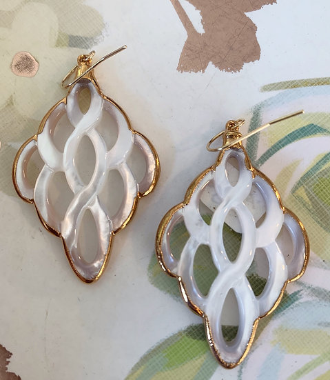 Marquise Mother of Pearl Earrings