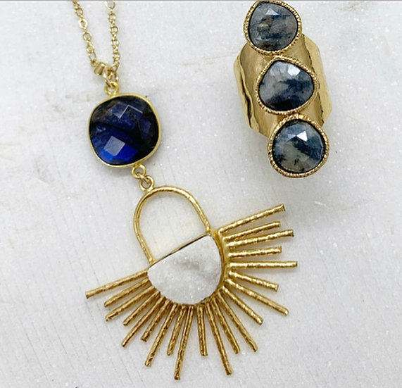 Labradorite Sunburst Necklace