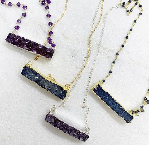 Druzy Bar Necklaces