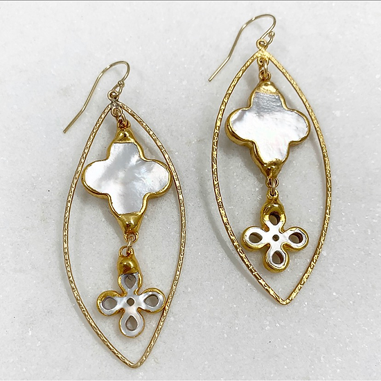 Copy of Marquise Mother of Pearl Earrings