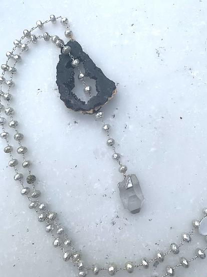 Geode Lariat Necklace