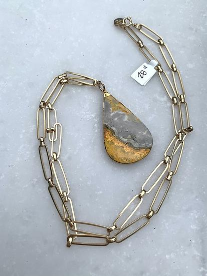 Bumblebee jasper necklace