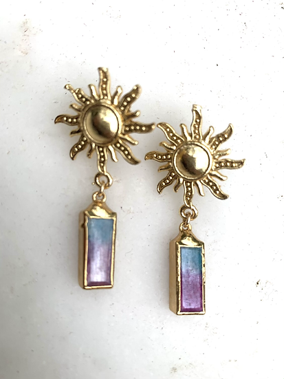 Ombr' Agate earrings