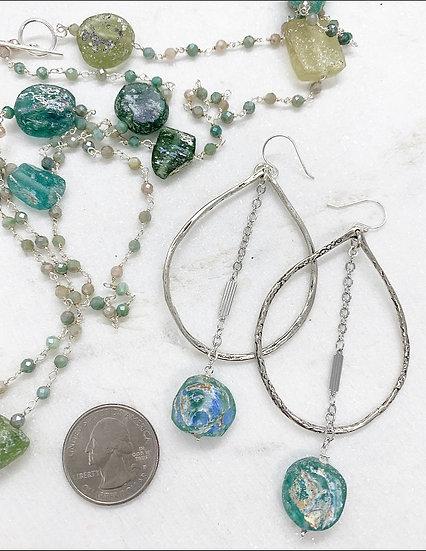 Venetian Glass Hoop Earrings