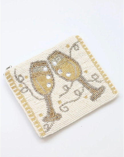 Champagne Toast Coin Purse
