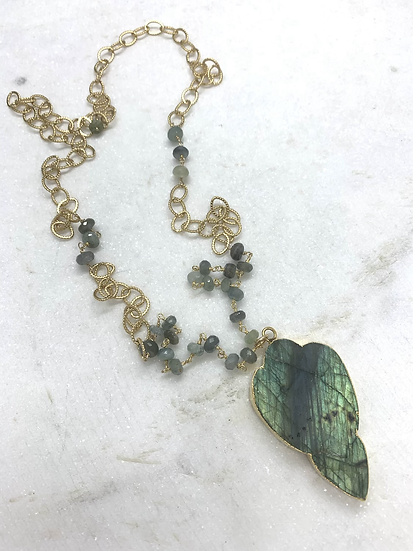 Labradorite and Moss Agate Necklace