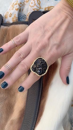 Black Garnet Ring