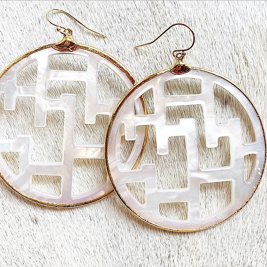 Large Mother of Pearl Earrings