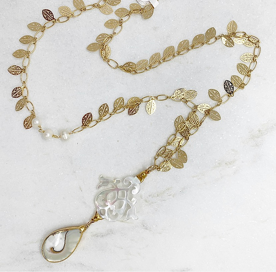 Mother of Pearl and Oyster shell Necklace