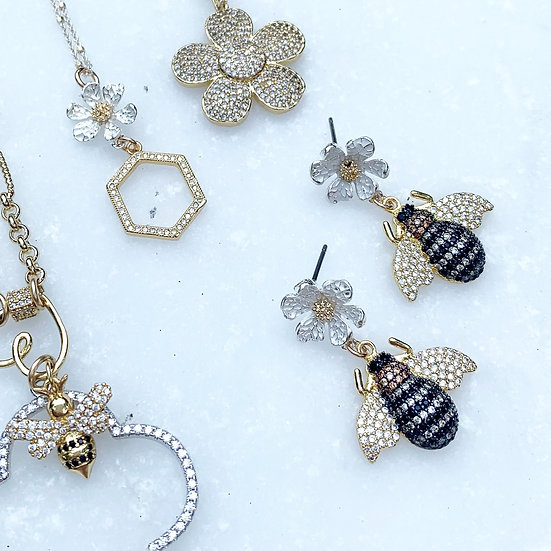 Little Pave' Bees and Flowers