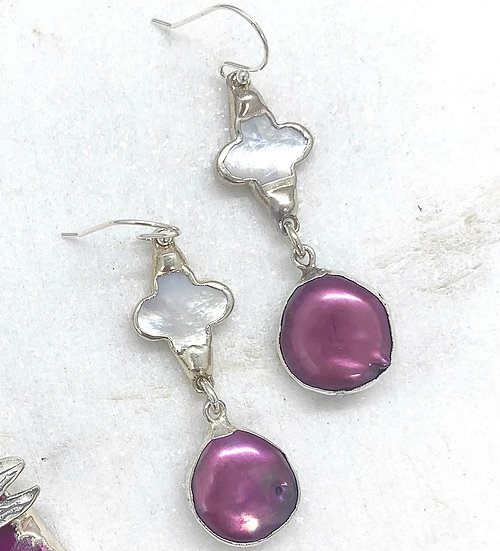 Sterling Silver Pink Freshwater Pearls