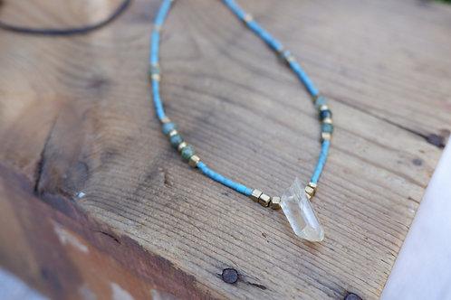 Vitality Quartz and Turquoise necklace