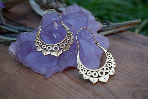 Shanti brass earrings