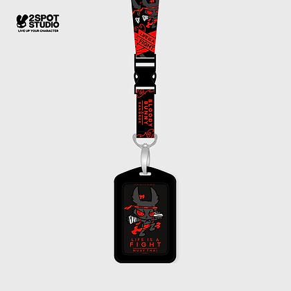 Neck Strap - Dark Rabbit (Muaythai)