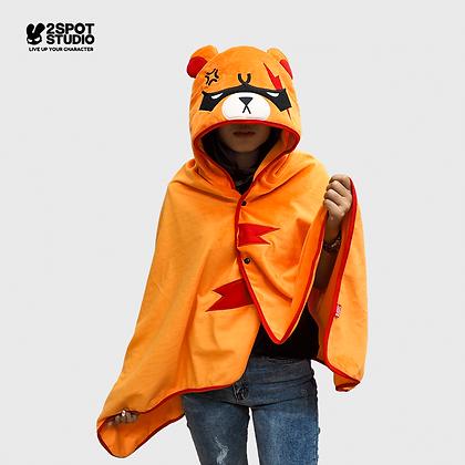 Hoodie Blanket - Serious Kuma