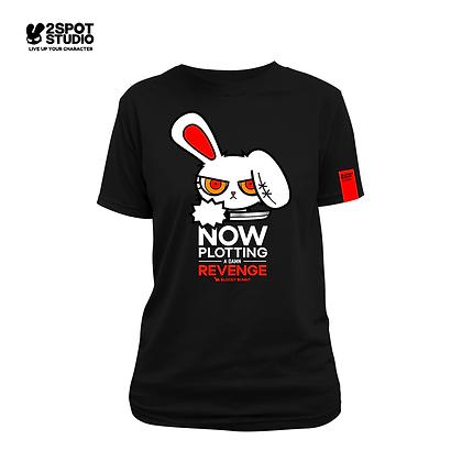 Bloody Bunny T-Shirt - Plotting revenge (BLACK)