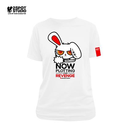 Bloody Bunny T-Shirt - Plotting revenge (White)