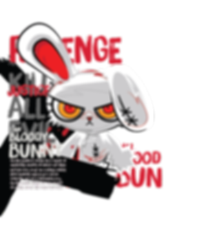 Character bloody bunny