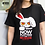 Thumbnail: Bloody Bunny T-Shirt - Plotting revenge (BLACK)