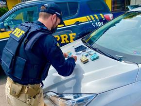 Após aplicarem golpe do bilhete premiado em Santa Catarina, estelionatários são presos pela PRF em P