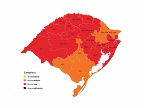Estado mantém mapa definitivo com 17 bandeiras vermelhas