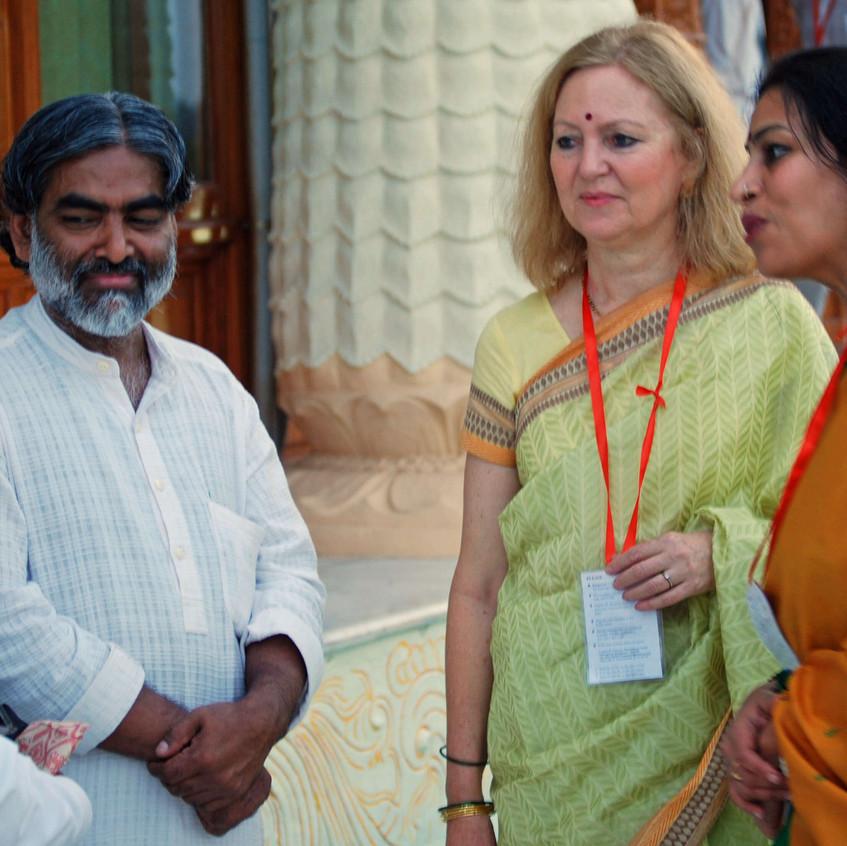 Vijnana Bharati Leaders with Vedika (1) (1)
