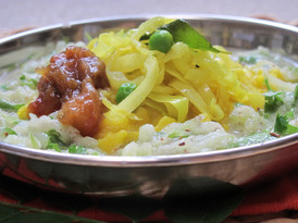 cooked b y sanjai Cabbage and Peas with
