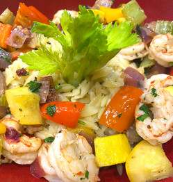 Orzo Shrimp and Vegetable Pilaf