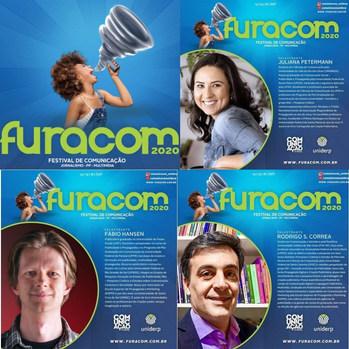 """Grupo IEP no lançamento do livro Criação Publicitária na Uniderp, em 16/10/2020 no evento """"FURACOM"""""""
