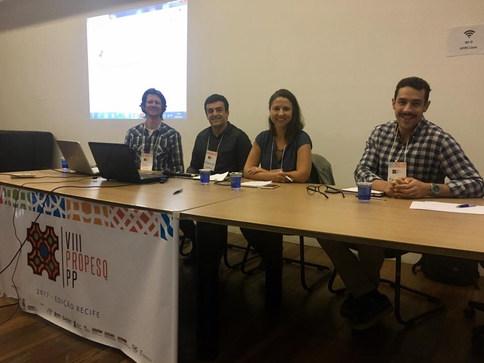 Mesa de pesquisadores do III Colóquio de Graduação - VIII Propesq-PP, Recife\PE, 2017