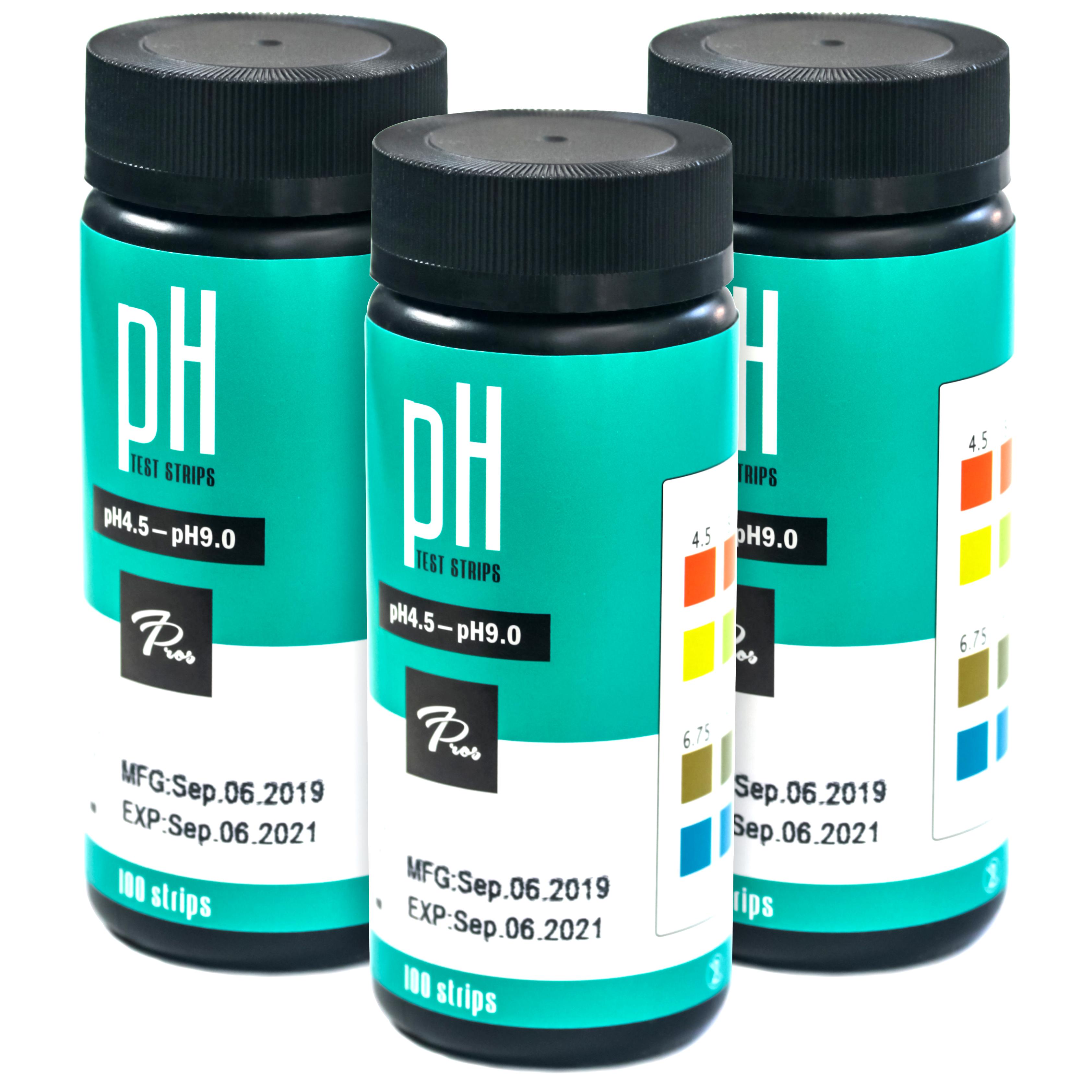 ph strips 3 bottles