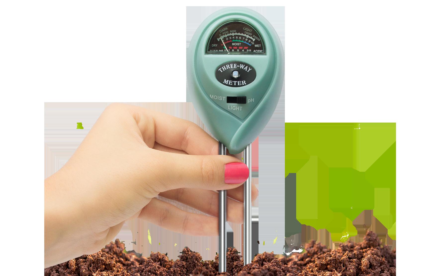 Soil meter in soil