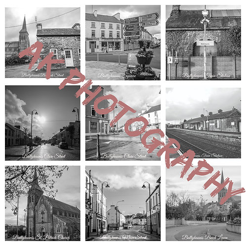 Ballyhaunis Classic Black and White Photos Magnets - 9Magnets Collection